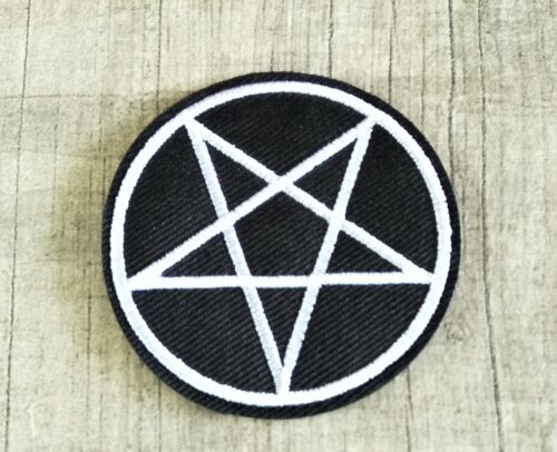 Pentagram Pentacle Devil Witch Wicca Wiccan Gothic Pagan Patch Iron On 6CM