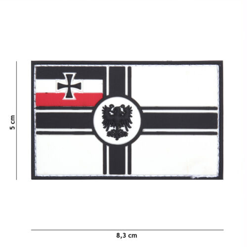 Patch 3D PVC  German empire flag   hook and loop airsoft WWIParches - 4725
