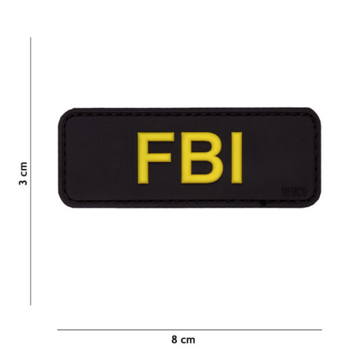 Patch 3D PVC FBI hook and loop airsoft WWIParches - 4725