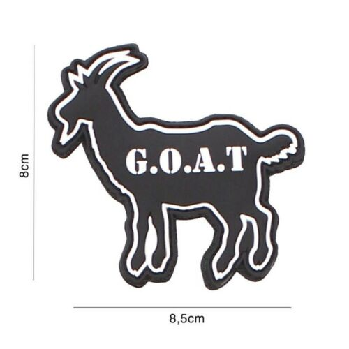 Patch 3D PVC tactical GOAT  hook and loop airsoftParches - 4725