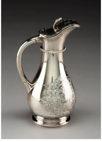 A080 A Haddock, Lincoln, and Foss Coin Silver Syrup Pitcher, circa 1860