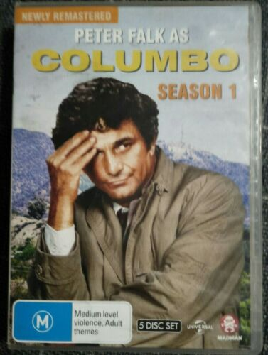 Columbo Series One DVD 4-Discs R4 Peter Falk Remastered VGC Missing Disc 4