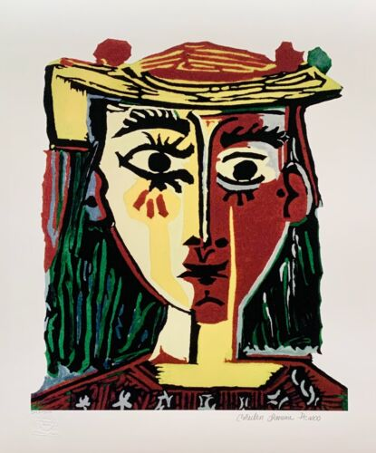 """Pablo Picasso BUST OF A WOMAN Estate Signed Stamped & Numbered Giclee 20"""" x 26"""""""