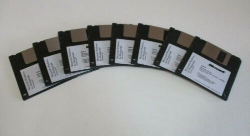 Eight Microsoft Windows for Workgroups Disks - Ver 3.11, Vintage Software, 1993