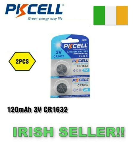 CR1632 1632 DL1632 3V Lithium Batteries Cell Button Coin Battery 2Pcs