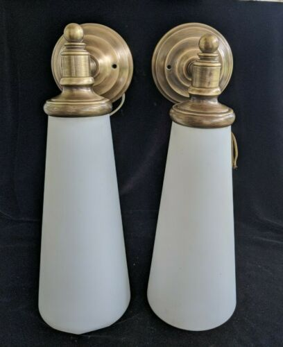 Pair of Large Modern or MCM Wall Sconces, Scott Lamp Co, Good Condition