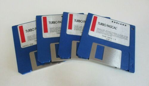 Four Turbo Pascal Disks Version 7.0 Borland, Vintage Software Programming, 1992