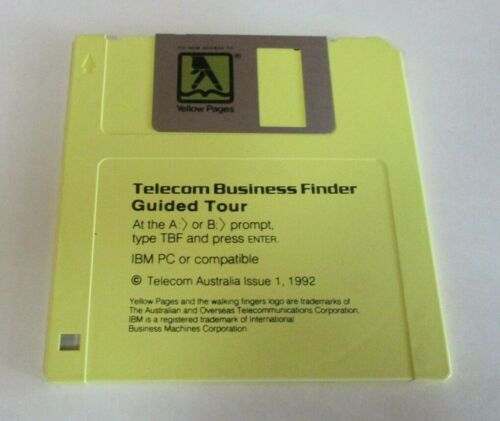 Telecom Business Finder Guided Tour Disk - Yellow Pages, Vintage Software, 1992