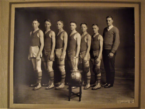 Cabinet Photo GOUVERNEUR NY High School Basketball Team CHAMPIONS Sports ID'ed