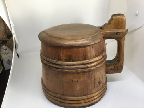 OLD SWEDISH TANKARD OR DRINKING CAN DATED 1791