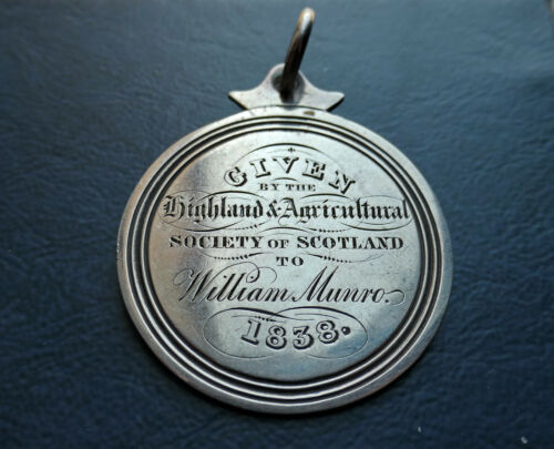 1838 PREMIO HIGHLAND & AGRICULTURAL SOCIETY OF SCOTLAND - GENERALE WILLIAM MUNRO