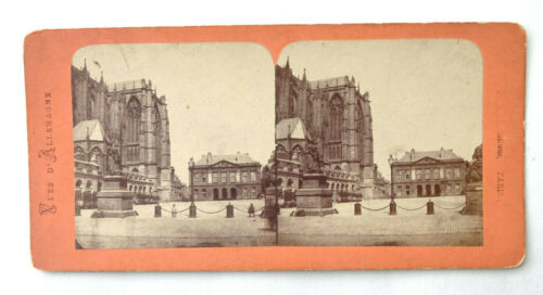 1890s Antique Stereoview Vues d'Allemagne Metz Paris France Adolphe Block - SV1