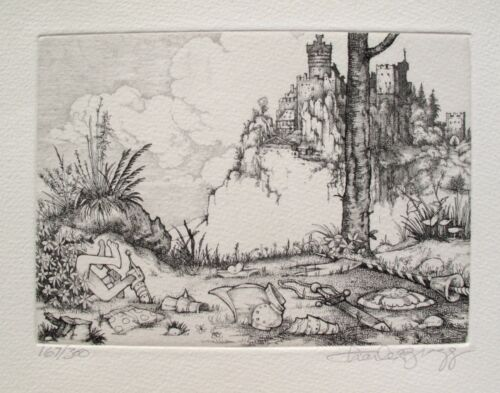 Charles Bragg THE CAPTURE Hand Signed Limited Edition Etching CAMELOT SERIES