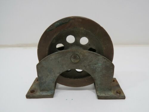 Bronze Deck Pulley 4+1/2 inch Wheel Cable Rope (C4B304A)