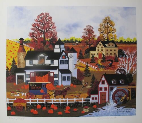 Jane Wooster Scott TEXTURES OF AUTUMN Hand Signed Limited Edition Art Lithograph