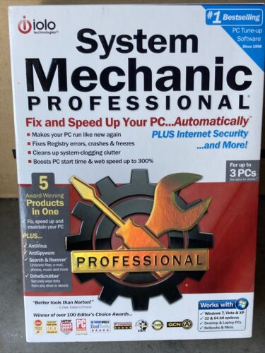 Iolo System Mechanic Professional PC Speed Up Software
