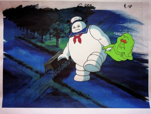 The Real Ghostbusters 1987 Animation Production SLIMER Cel & Copy Background DiC