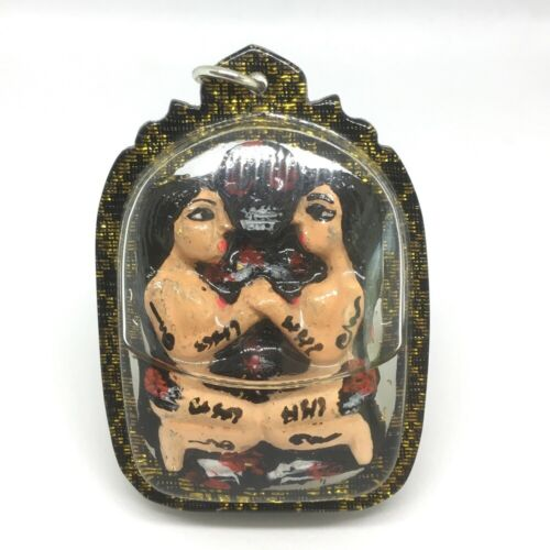 EROTIC MAE PER WITH GHOST IN OIL TALISMAN CHARMING LOVE THAI AMULET PENDANT