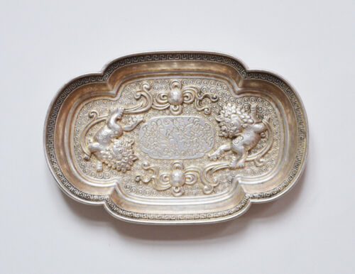 ANTIQUE CHINESE QING DYNASTY TRAY WITH LION