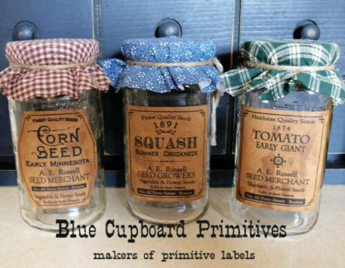 Primitive Pantry Farmhouse Seed  26 Labels