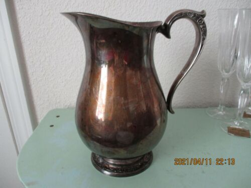SILVER PLATED WATER PITCHER BY RODGER'S BRO. #2317