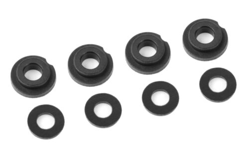 Team Corally Shock Body Insert Washer Composite 1Set (4+4Pcs) 00180-078