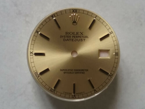 ROLEX CADRAN DATEJUST T SWISS MADE T 3035 / 3135 CHAMPAGNE DIAL CHIFFRES ROMAINS