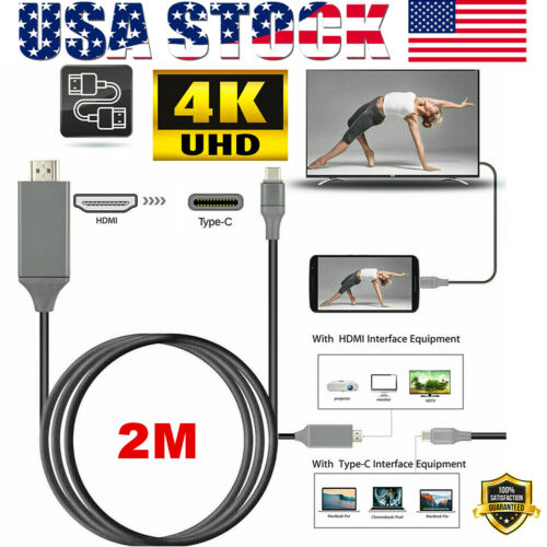 USB-C Type C to HDMI 4K HDTV Cable Adapter For Samsung Galaxy S10 Note 9 MacBook