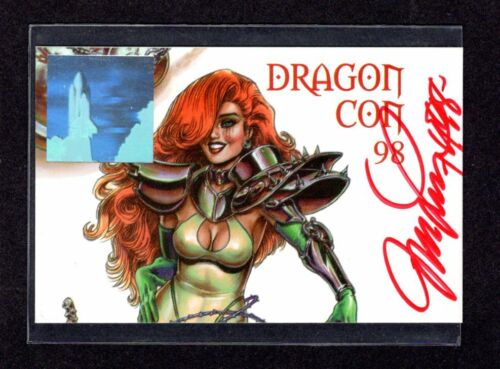 1998 SIGNED LINSNER DAWN Dragon Con 25th Anniversary Badge Pass