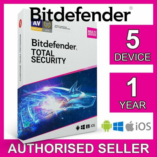 Bitdefender Total Security 2021 5 Device 1 Year PC Mac iOS Android Activate Code