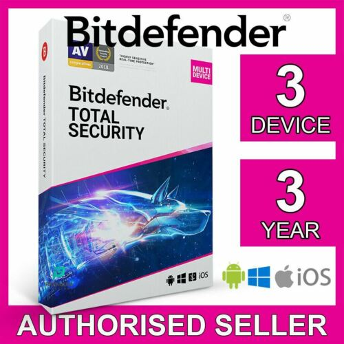 Bitdefender Total Security 2021 3 Device 3 Year PC Mac iOS Android Activate Code
