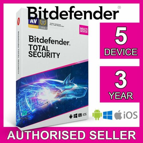Bitdefender Total Security 2021 5 Device 3 Year PC Mac iOS Android Activate Code