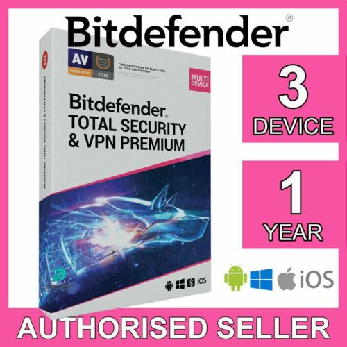 Bitdefender Total Security & VPN Premium 3 Device 1 Year iOS PC Activation Code