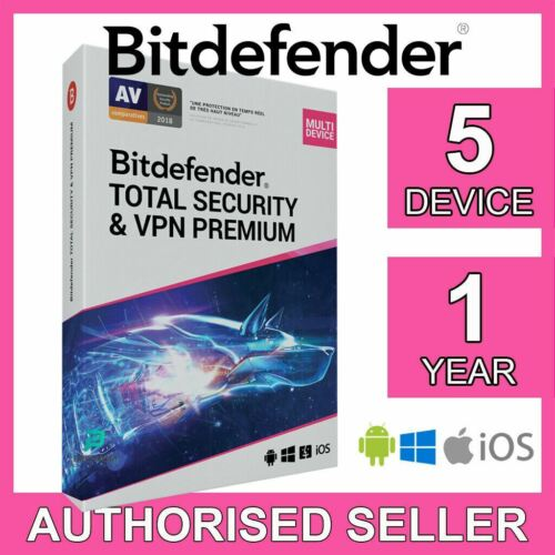 Bitdefender Total Security & VPN Premium 5 Device 1 Year iOS PC Activation Code