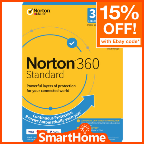 Norton 360 Standard for 3 Device - 1 Year - Digital Product Key Delivery