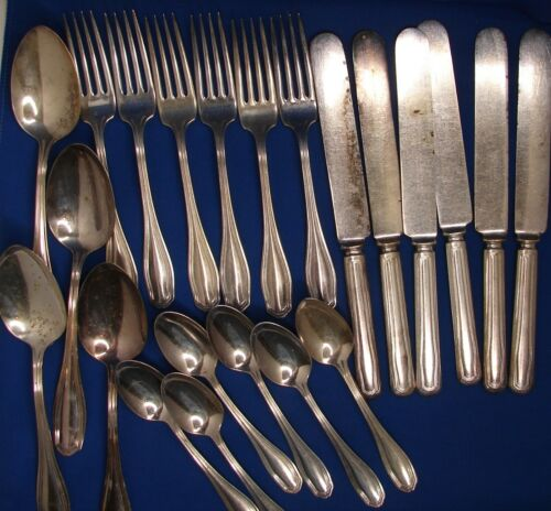 Clinton Commodore Silverplate Mixed Lot Wm Rogers Fork Spoon Knife Flatware