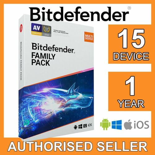 Bitdefender Family Pack MULTI-DEVICE 2021 15 devices 1 year FULL EDITION Key