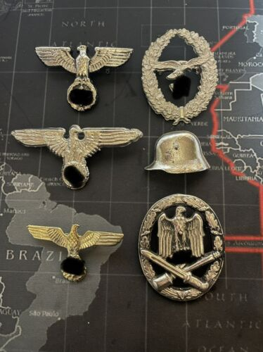 16 x MILITARY BADGES & PINS INC; AUSTRALIA, RUSSIA, GERMANY, ETC (SOME REPLICAS)1939 - 1945 (WWII) - 13977