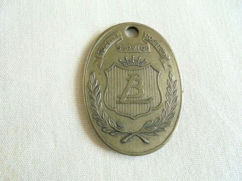 Vintage LB (LIT BROTHERS?) Grammes Charge Coin Tag Fob