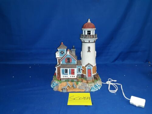 Lemax Village Collection Seal Point Lighthouse #95839 As Is SC0154