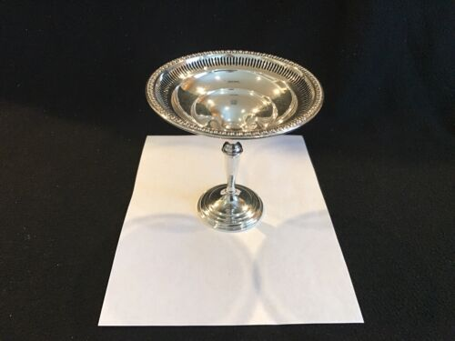 """Vintage W.M. Rogers Sterling Silver Weighted Reinforced 39a Compote pierced  6"""""""
