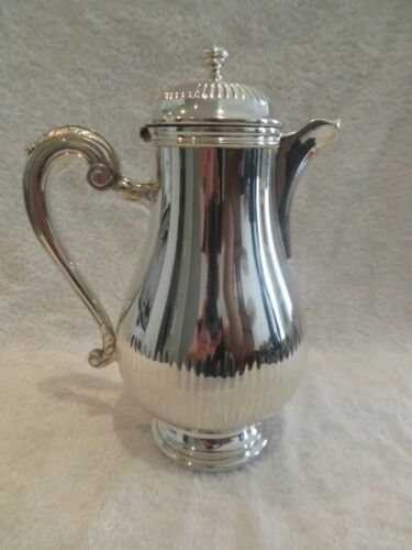 French silver-plated Coffee pot Gadroons Louis XV style Christofle