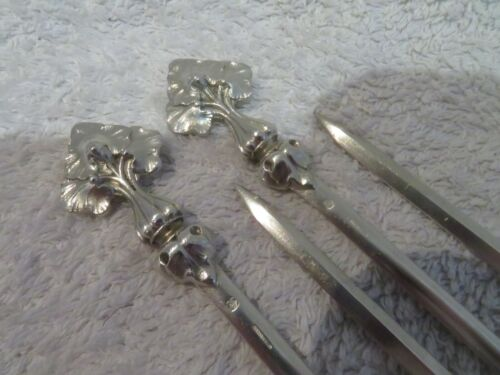 Gorgeous 1900 French silver-plated 4 skewers Christofle art nouveau style
