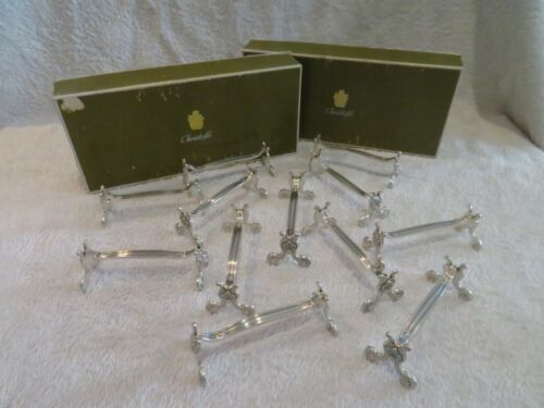 Vintage french silverplate 12 knife rests Christofle Shells Coquilles & boxes