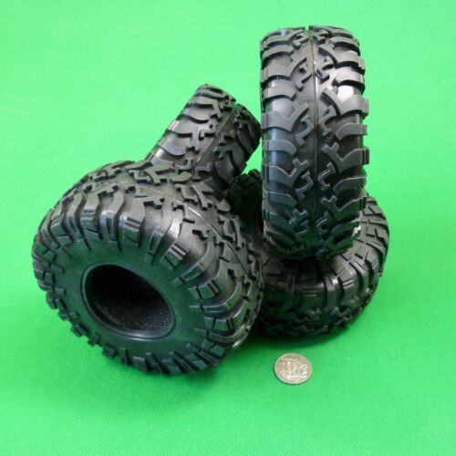 """SET of 4 -2.2 """"Hammers"""" All Terrain Tyres for 1:10 RC Crawler may suit Axial SCX"""