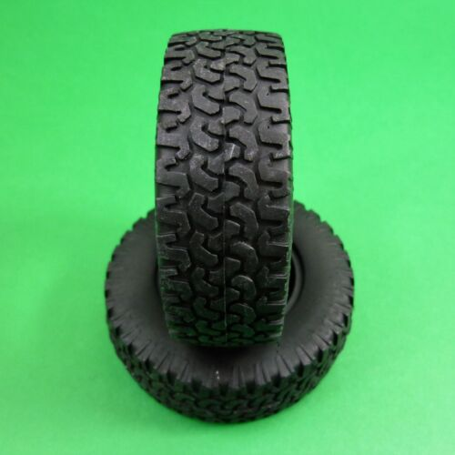 SET of 4 Tyres Tires & Inserts for 1:10 RC Rock Crawlers fit 1.55 wheels MTZ