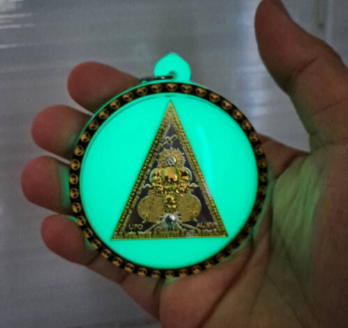 Alien UFO 3 Face Coin AJ Mom Thai Amulet Strong Power Protect Luck Good Business