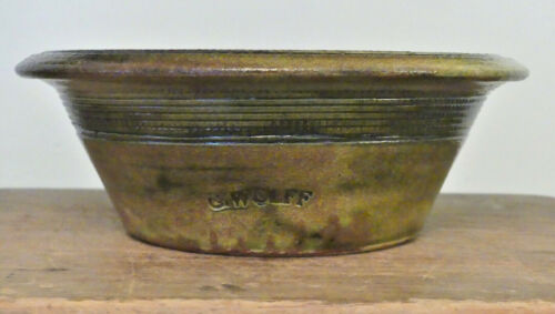 GUY WOLFF SIGNED ONE-OF-A-KIND 18TH 19TH C.REPRODUCTION POTTERY BOWL BANTAM CT