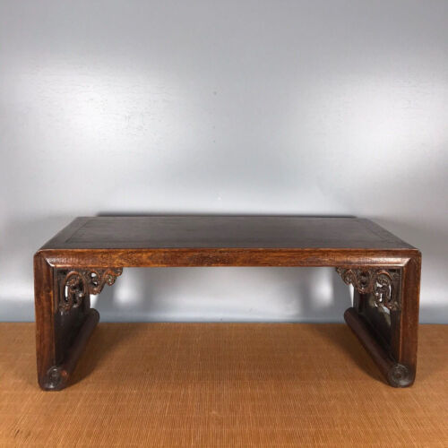 16'' Chinese Antique Wood table natural Yellow rosewood Small table