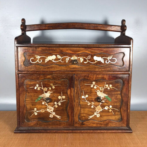 14.2'' Chinese Antique Wood cabinet natural Yellow rosewood cabinet